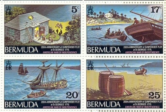 Bermuda Gunpowder Plot stamps