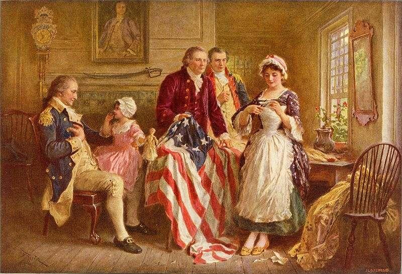 Betsy Ross, 1777 by Jean Leon Jerome Ferris