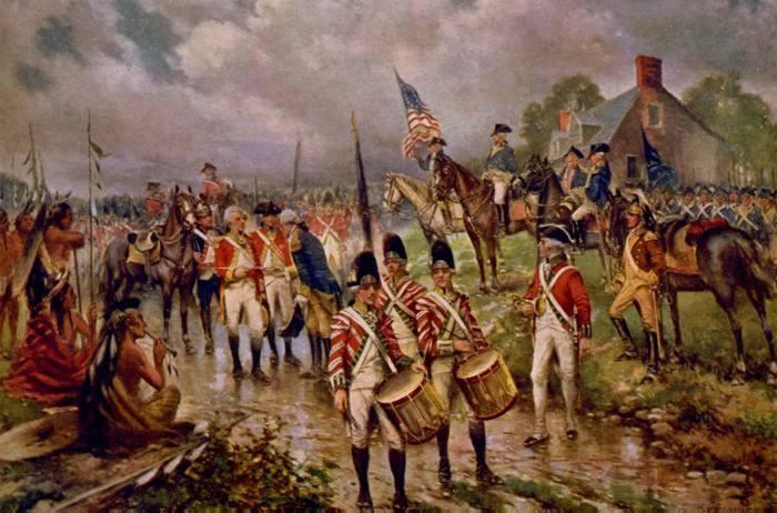 Burgoyne's Surrender at Saratoga by Percy Moran