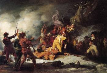 The Death of General Montgomery in the Attack on Quebec by John Trumbull