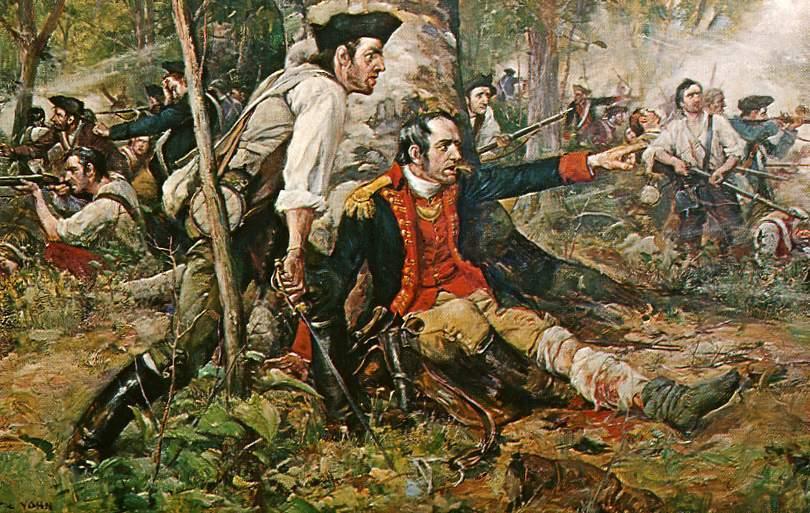 General Herkimer directing the Battle of Oriskany by Frederick Coffay Yohn