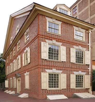 Graff House, Philadelphia - Location where Thomas Jefferson wrote the Declaration of Independence