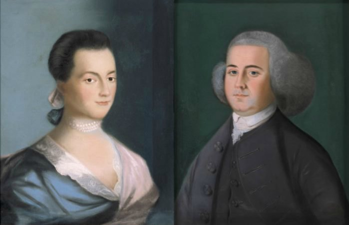 John and Abigail Adams by Benjamin Blythe