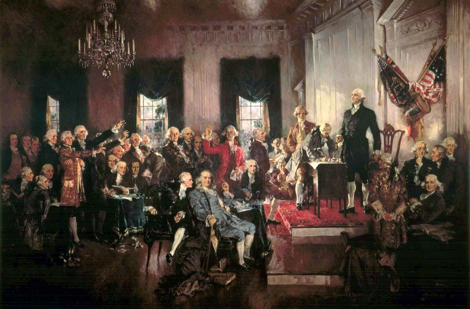 Scene at the Signing of the United States Constitution by Howard Chandler Christy