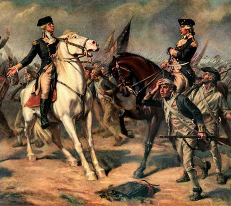 Washington at the Battle of Monmouth by John Ward Dunsmore