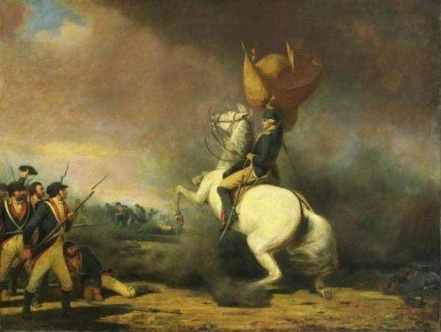 General George Washington rallying his troops at the Battle of Princeton by William Ranney, 1848