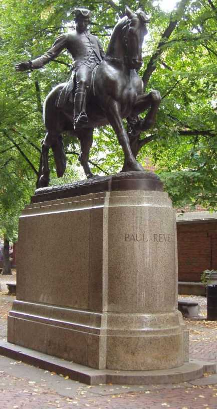 Paul Revere Statue, Boston