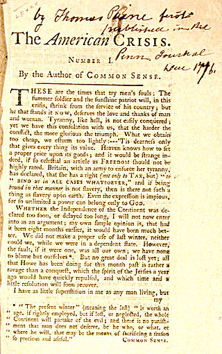 the crisis by thomas paine essay Free essay: thomas paine wrote right of man in 1791, which was a guide to   thomas paine's common sense influenced america's independence from  britain  at this time for writing common sense, as well as his sixteen crisis  papers.