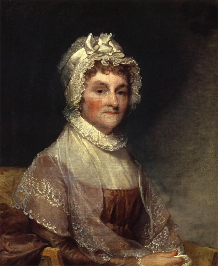 Abigail Adams portrait by Gilbert Stuart