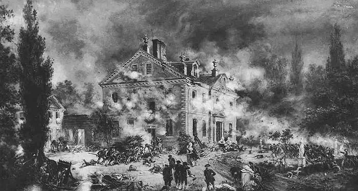 Attack on the Chew House by E.L. Henry