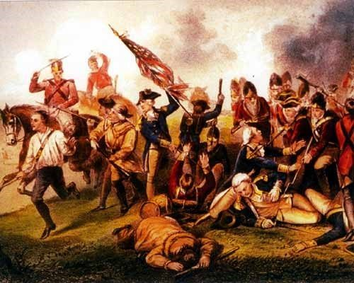Battle of Camden, Death of De Kalb by Alonzo Chappel