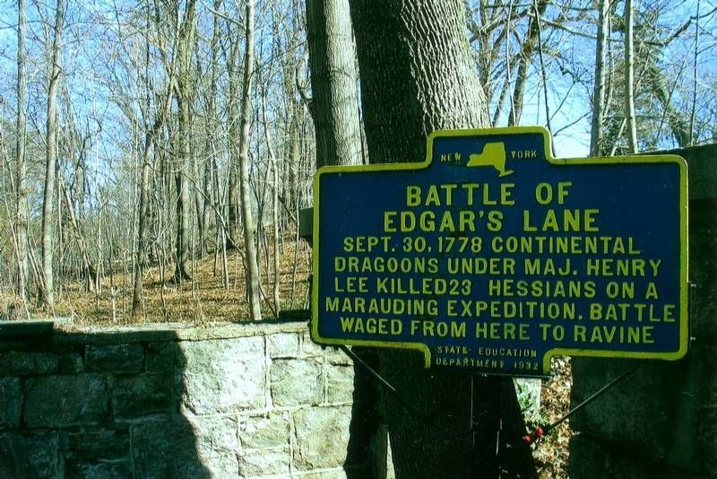 Site of the Battle of Edgar's Lane, Hastings-on-Hudson, New York