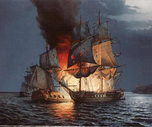 The Battle of Flamborough Head, 1779 by Roy Reynolds