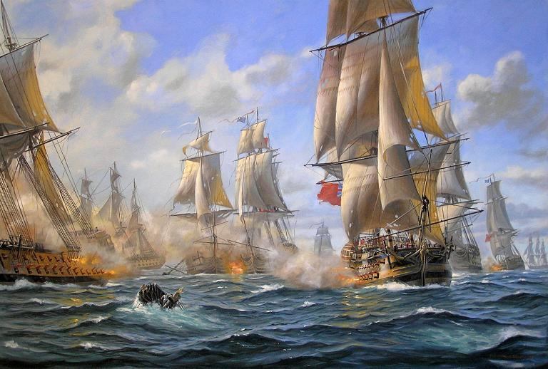 Battle of the Chesapeake by Patrick O'Brien