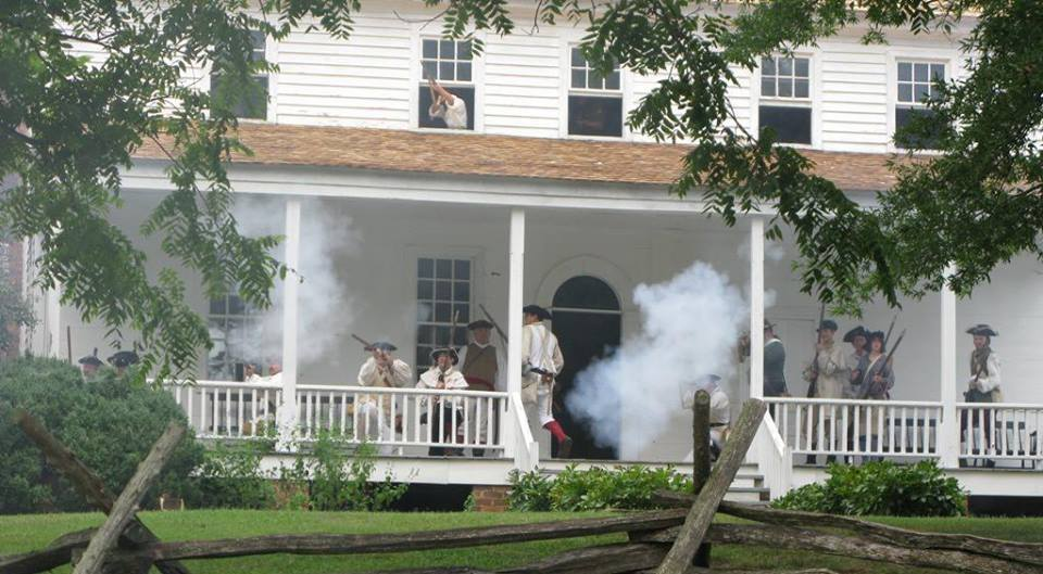 Annual reenactment of the Battle of the House in the Horseshoe at the still standing home in Sanford, North Carolina