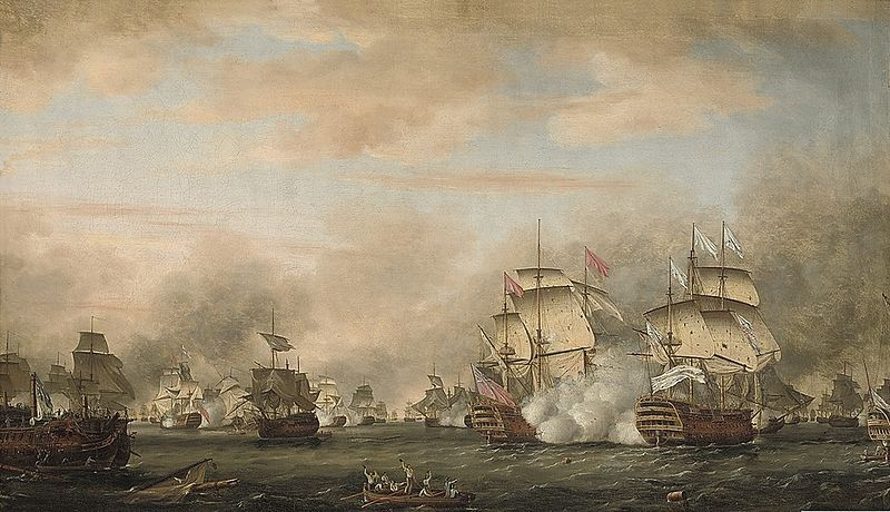 Battle of the Saintes by Thomas Whitcombe, 1783