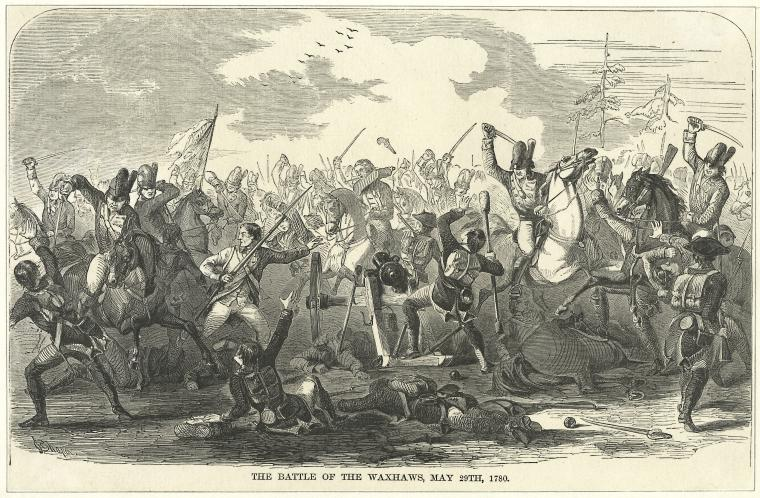 The Battle of the Waxhaws by Thomas Addis Emmet