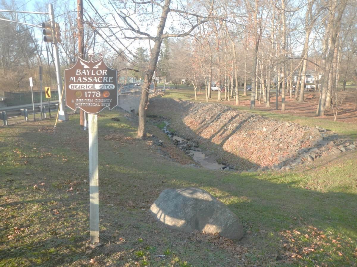 Baylor Massacre burial site, River Vale, New Jersey