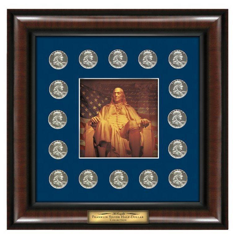Ben Franklin Half-Dollar Lithograph Print