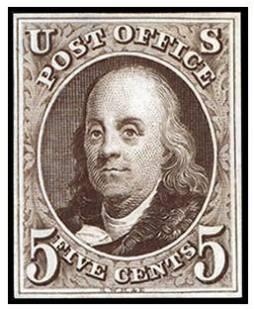 Benjamin Franklin Postage Stamp