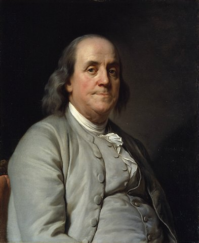 Benjamin Franklin by Joseph Siffred Duplessis