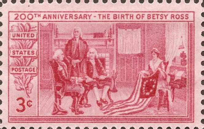 Betsy Ross 200th Birthday Commemorative Stamp