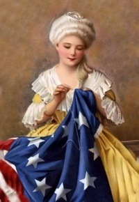 Betsy Ross Made The First 13 Star Flag Using Design And It Was Chosen By Congress This Then Served Several Years As Of United