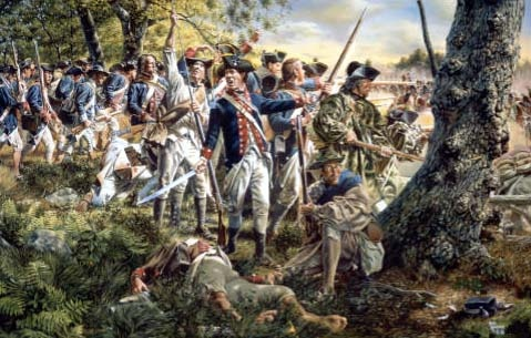 General Sullivan at Brandywine by Rick Reeves