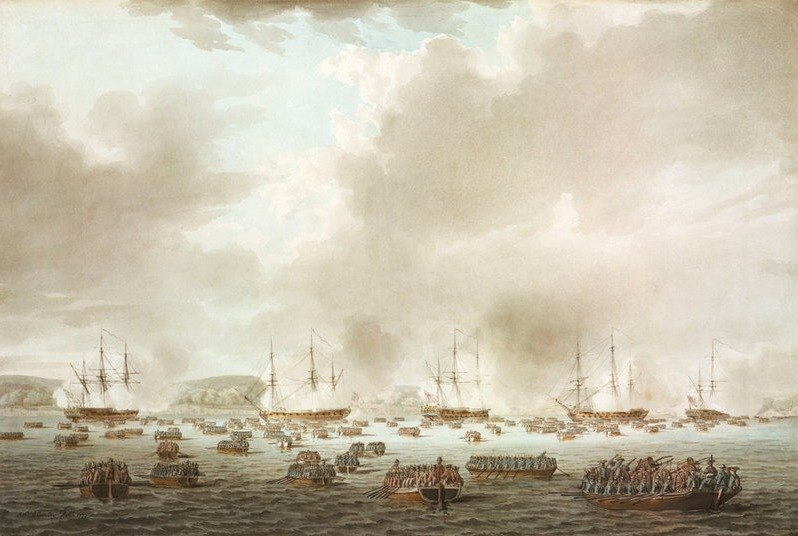 British Landing at Kip's Bay,New York Island, 15 September 1776 Robert Clevely