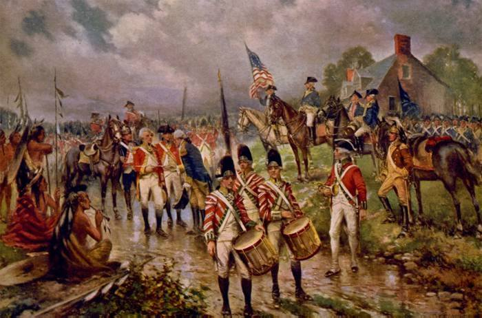 Burgoyne's Surrender at Saratoga by Percy Moran