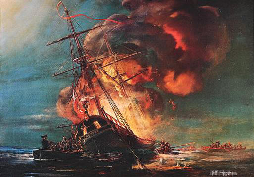 Burning of the Gaspee by Kipp Soldwedel