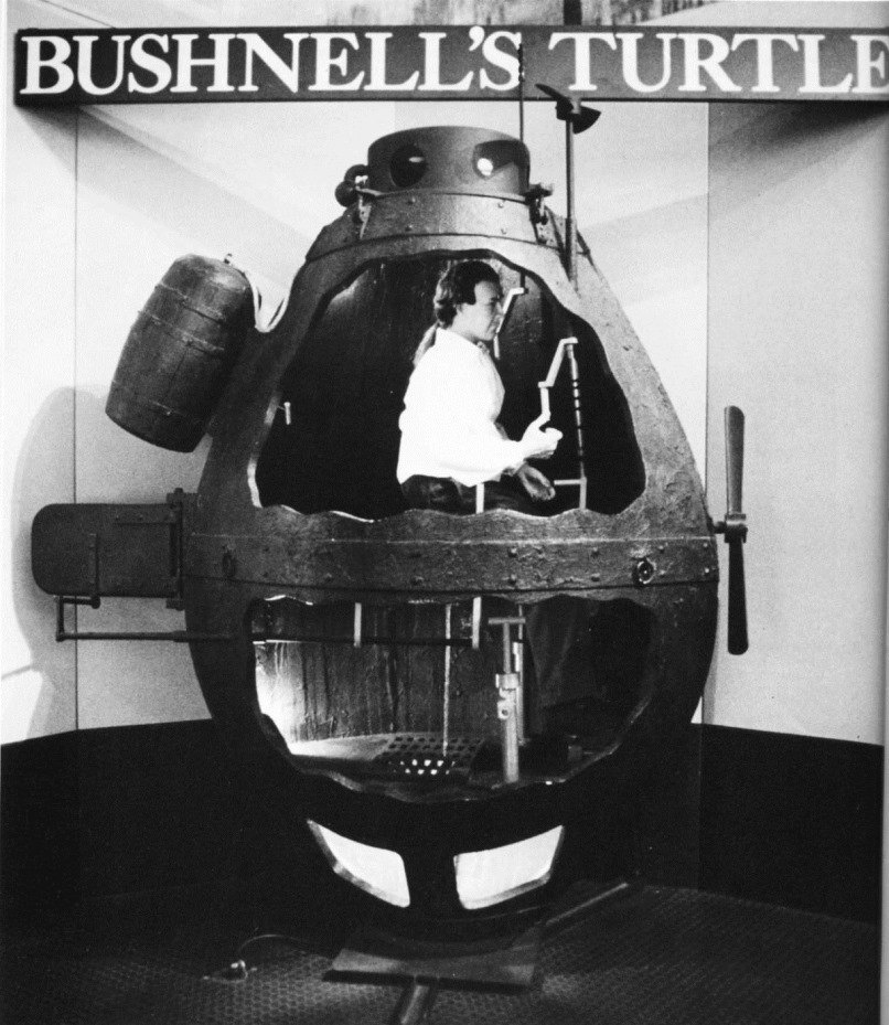 Replica of Bushnell's Turtle, Submarine Force Museum & Library, Groton, Connecticut