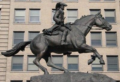 Caesar Rodney statue in Rodney Square, Wilmington, Delaware
