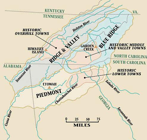 Cherokee territory