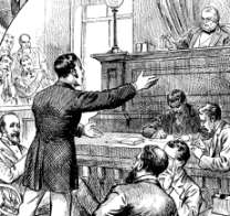 Colonial courtroom