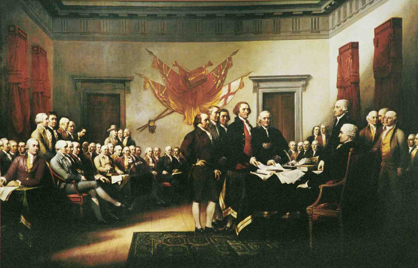 Signing the Declaration of Independence by John Trumbull