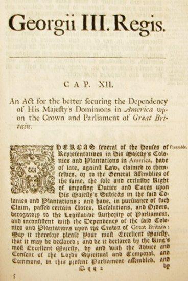 Declaratory Act of 1765