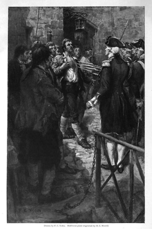 Ethan Allen being held captive before Captain Prescott in Montreal, 1775 by H.C. Merrill