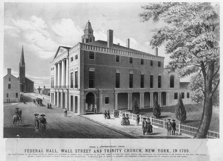 Federal Hall, New York City, 1789