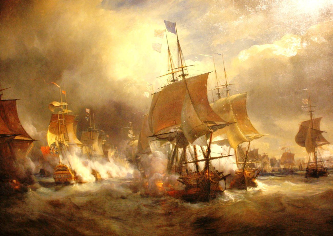 First Battle of Ushant by Theodore Gudin