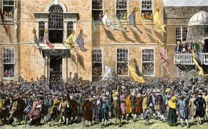 First Public Reading of the Declaration of Independence
