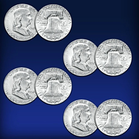 Franklin Half Dollars Complete Coin Collection