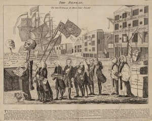 The Funeral of Miss Amelia-Stamp, 1766