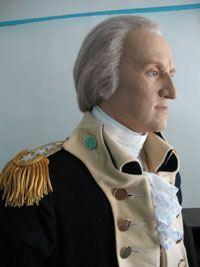Life-size figure of George Washington at Rockingham House