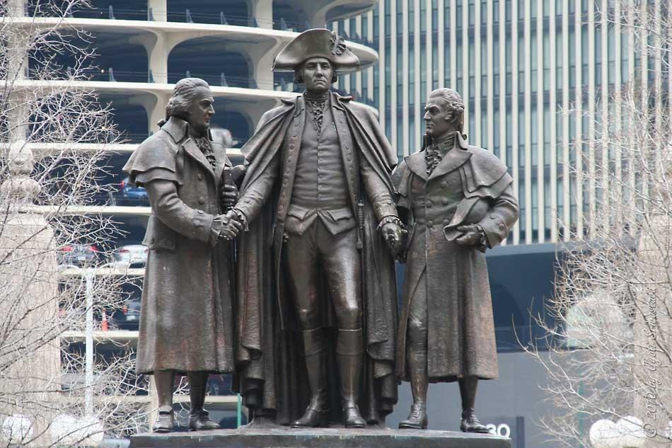 Heald Square Monument by Lorado Taft, Chicago