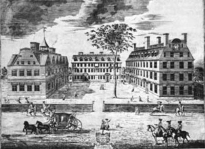Harvard College, ca. 1725