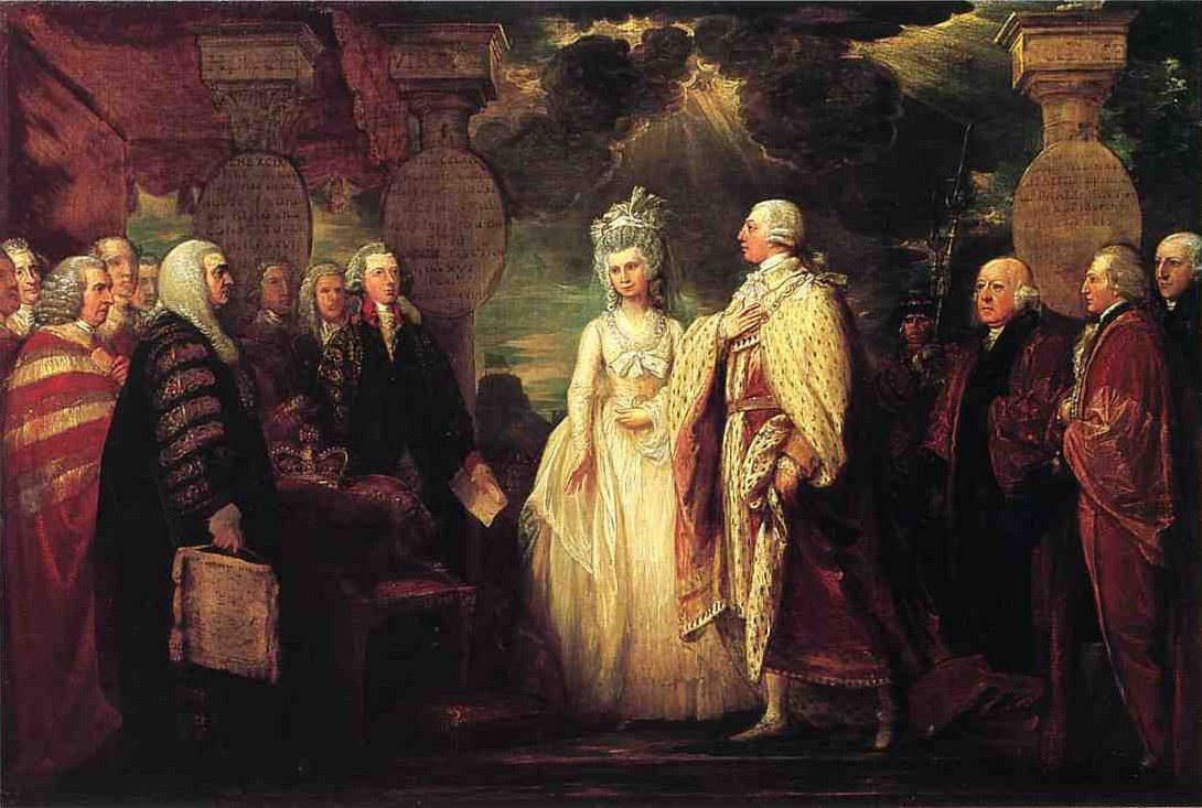 His Majesty George III Resuming Power, 1789 by Benjamin West