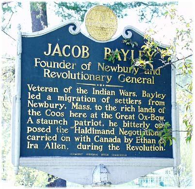 Jacob Bayley memorial, Newbury, Vermont