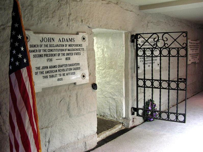 John Adams gravesite