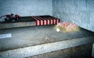 John and Abigail Adams' graves